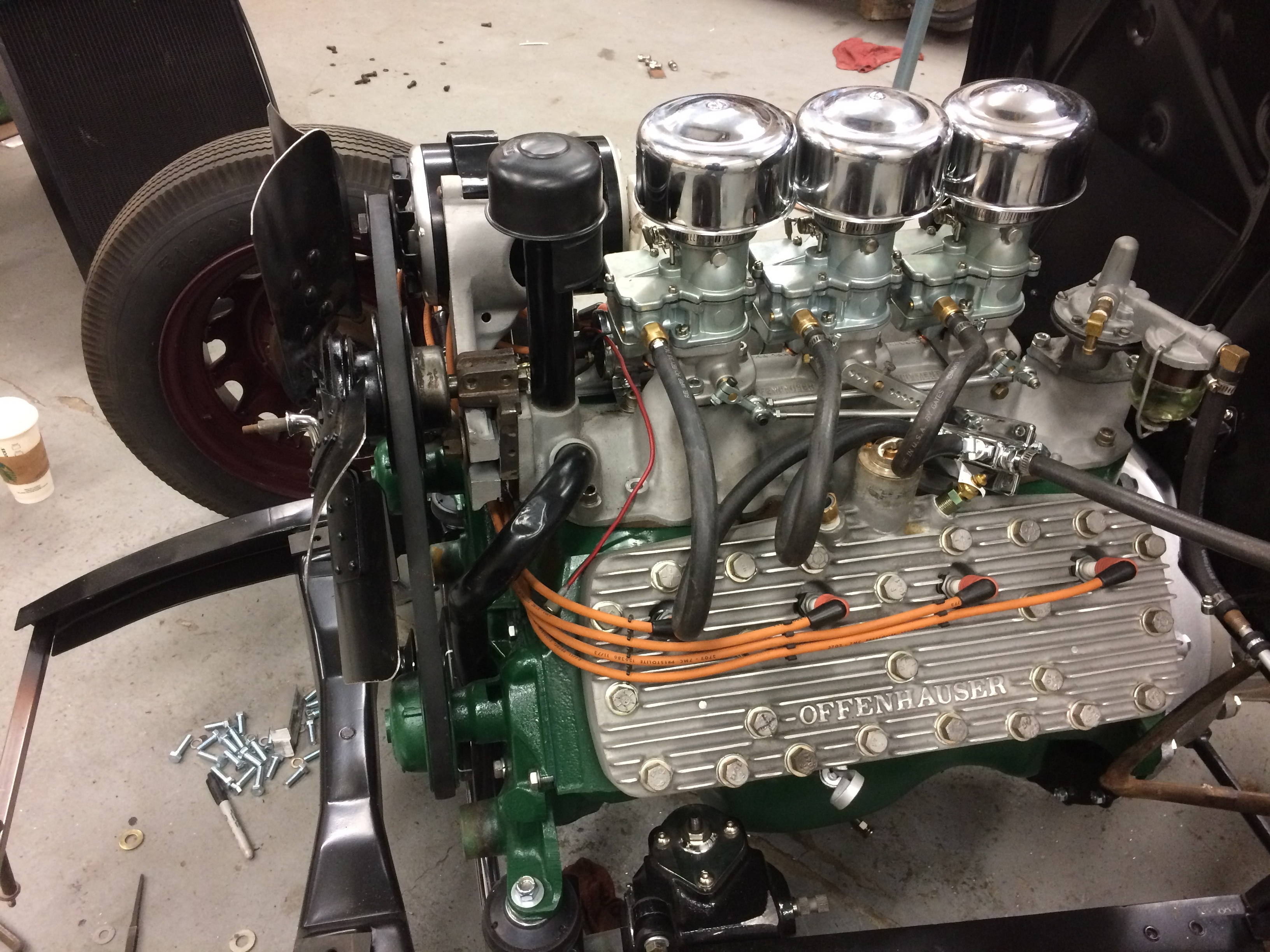 Ford Flathead Engine Closeup on Dodge Flathead Engine Rebuild