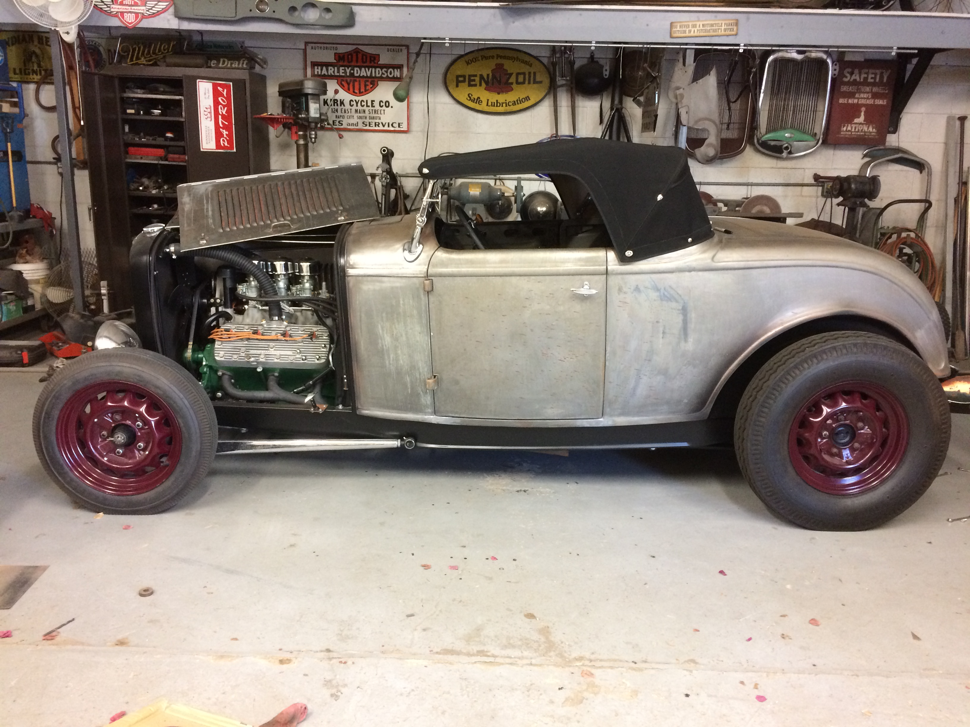 32 ford flathead in shop